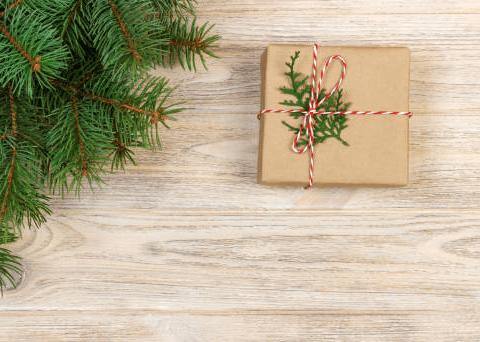 двухцветные шнуры и веточки туи украшение для упаковки подарков