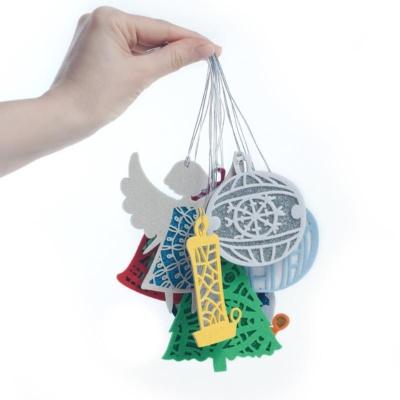 двухслойные ёлочные игрушки из фетра с эффектами