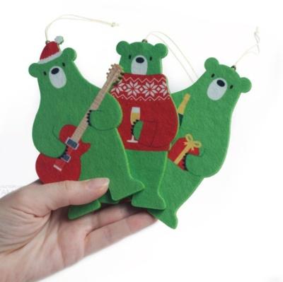 ёлочные игрушки медведи персонажи из фетра